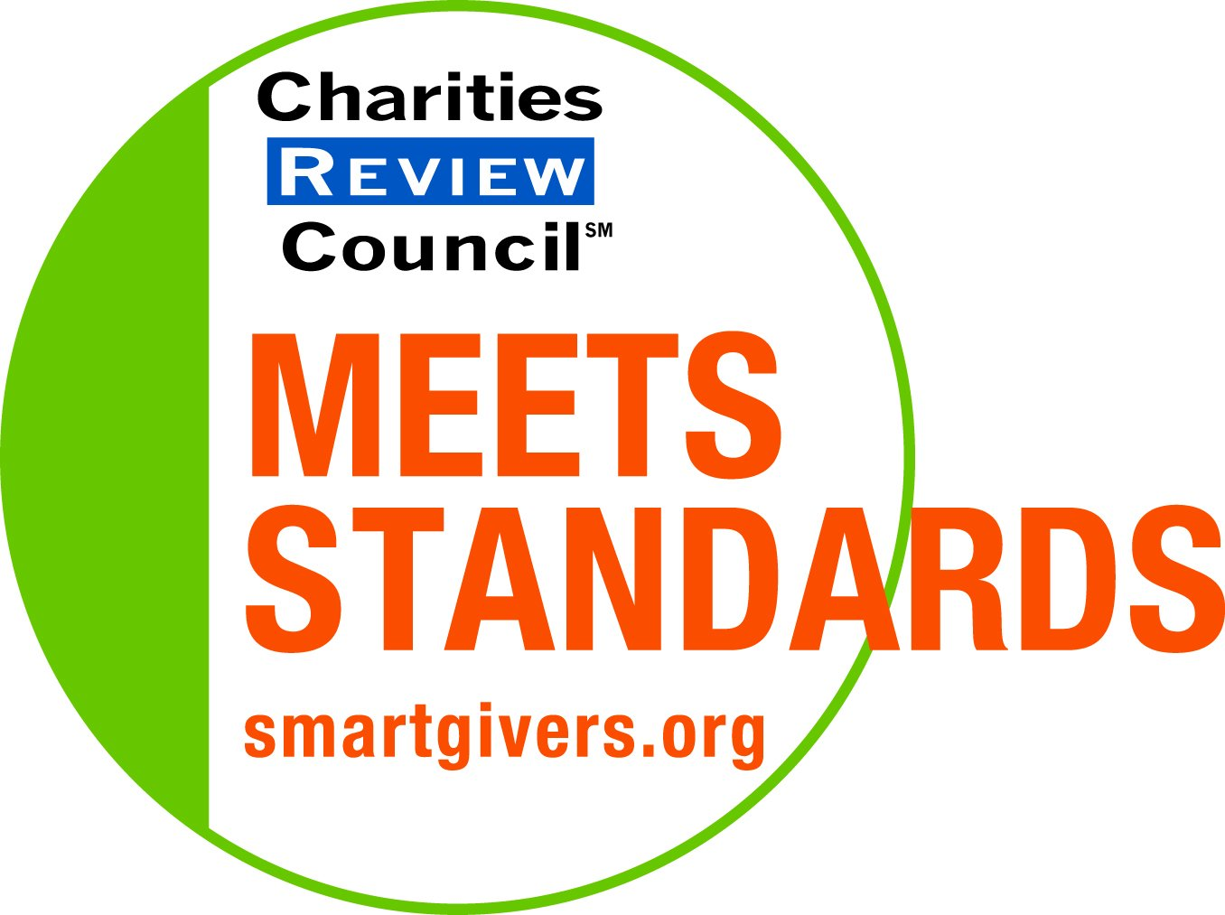 Charities Review Council Meets Standards certification logo.