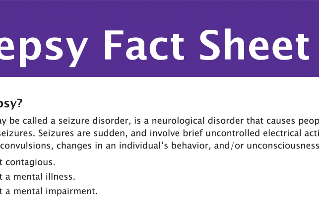 Epilepsy fact sheet title from PDF