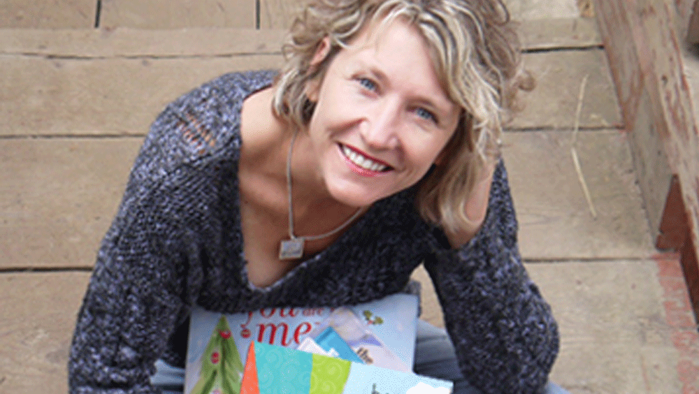 Author Marianne Richmond poses with some of her picture books.