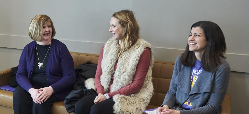 Three constituents sit in a legislator's office to advocate for epilepsy legislation