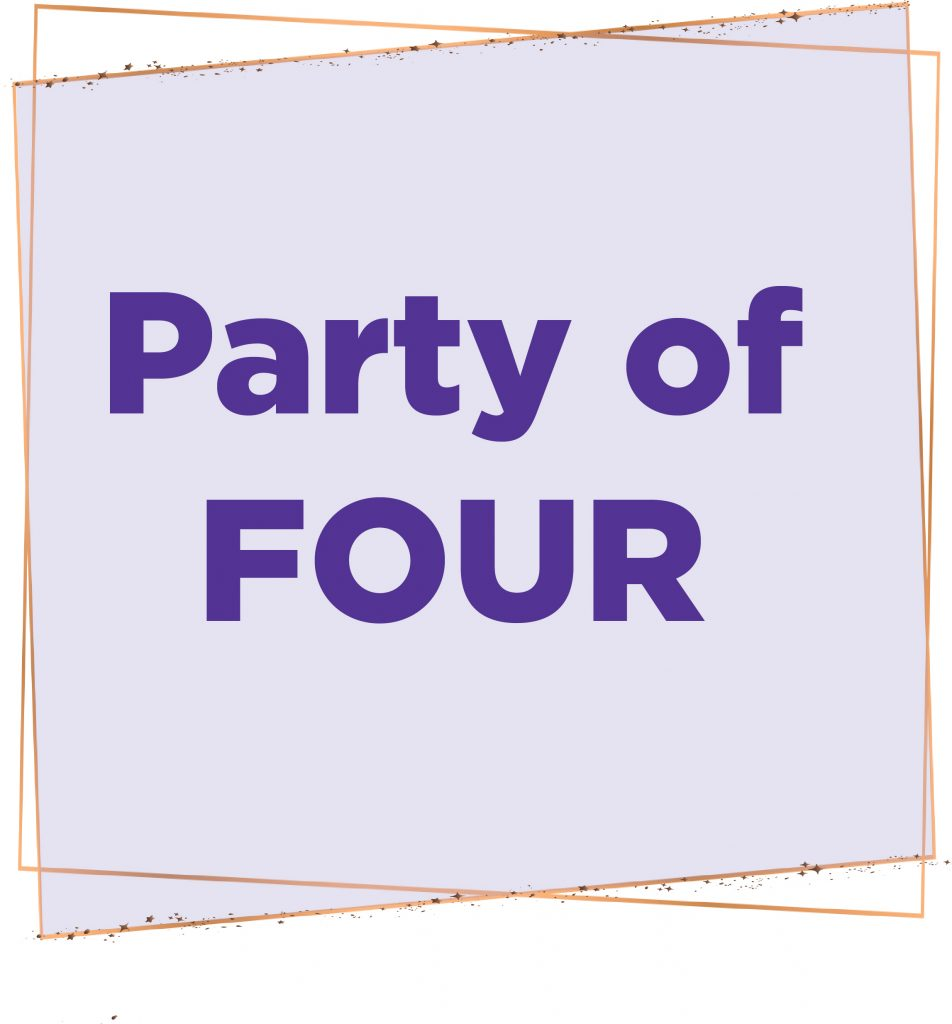 Image reads Party of Four